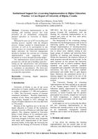 prikaz prve stranice dokumenta Institutional Support for E-learning Implementation in Higher Education Practice: a Case Report of University of Rijeka, Croatia